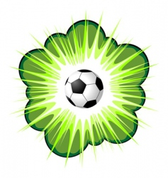 soccer ball and blow up vector image