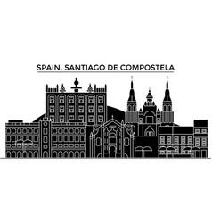 Spain santiago de compostela architecture vector