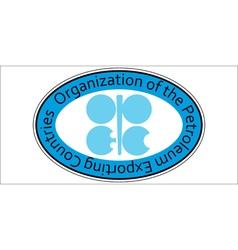 Sticker oil organization opec vector