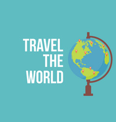 Travel the world style globe vector