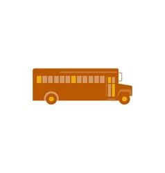 Vintage school bus side retro vector