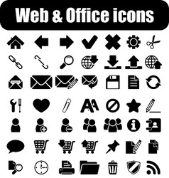Web and office vector image vector image