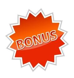 Web button bonus vector image vector image