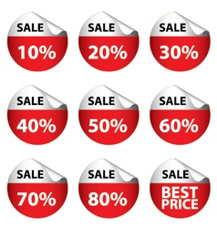 Sale banner with many discount price circle sign vector