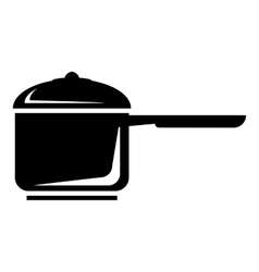 Pan with handle icon simple style vector