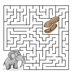 Education maze or labyrinth game for children with vector