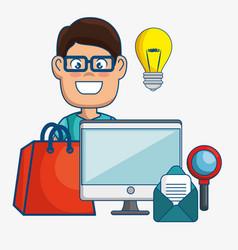Digital marketing technology icon vector