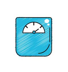 Weight machine instrument to measure of kilogram vector
