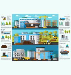 Industrial factory brochure vector