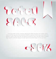 Total sale background in paper style vector