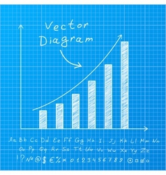 Blueprint diagram vector