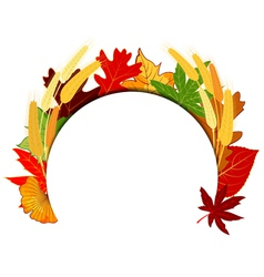 Thanksgiving colorful autumn leaf vector