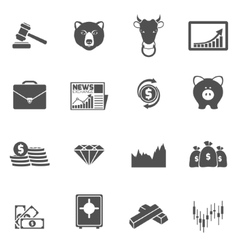 Finance exchange icons black vector image
