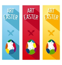 Art easter concept flyer vector