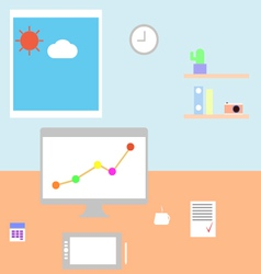 Workplace freelancer vector