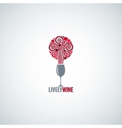 Wine glass design concept background vector