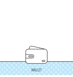 Wallet icon cash money bag sign vector