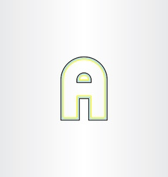 Line icon letter a vector
