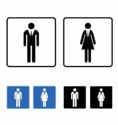 restroom business vector image