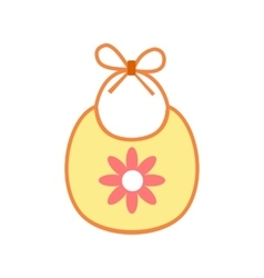 Baby bib flat icon vector