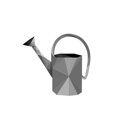 Origami steel watering can vector