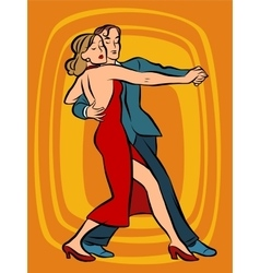 Couple dancing tango vector