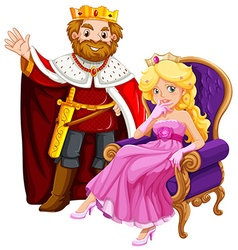 King and queen on the chair vector