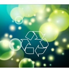Green and ecological light background vector image