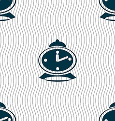 alarm clock icon sign Seamless pattern with vector image