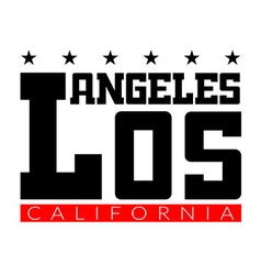 T shirt typography graphics los angeles california vector