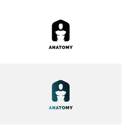 anatomy logo with human torso vector image
