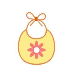 Baby bib flat icon vector image vector image