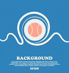 baseball icon sign Blue and white abstract vector image vector image