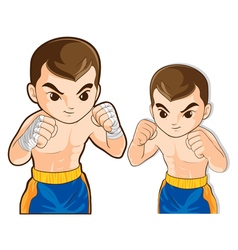 boxing guard action vector image