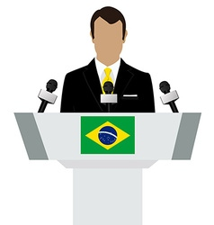 Brazil speaker tribune vector