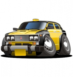 cartoon taxi vector image