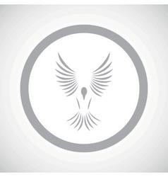 Grey bird sign icon vector