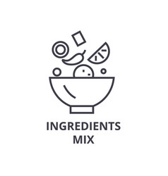 ingredients mix line icon outline sign linear vector image vector image
