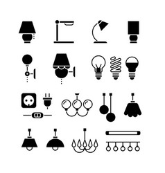 lamp light bulbs and electrical equipment vector image