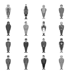 Military army soldiers uniform icons set vector image vector image