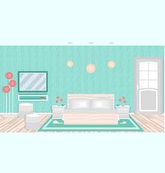 modern bedroom in hotel including furniture vector image vector image