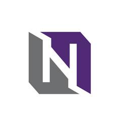 Modern logo solution letter l n l vector