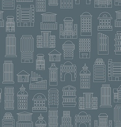 Night city pattern Silhouettes of buildings in the vector image vector image