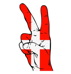 Peace Sign of the Danish flag vector image