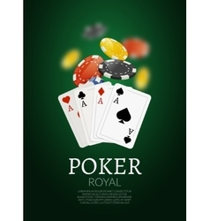 Poker chips and cards bacgkground Poker Casino vector image vector image