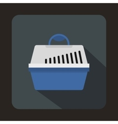 Portable cage for pets icon flat style vector image