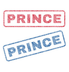 Prince textile stamps vector
