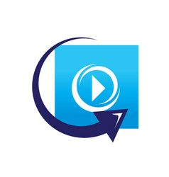 Replay video sign vector
