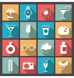 set of rest icons in flat design vector image vector image