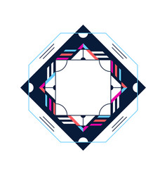 trendy card frame style design abstract geometric vector image
